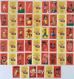 17 x SCANLENS CRAZY CARD GUM 1964 Lot HARD TO FIND