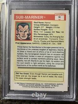 1990 Marvel Universe Sub-Mariner #16 PSA 10 GEM MINT (Very Hard Find)