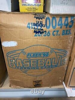 1992 Fleer Baseball Factory Sealed Wax Case (Hard to find) for