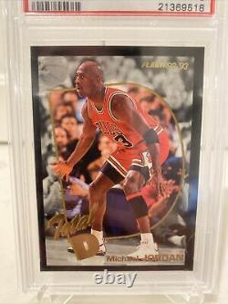 1992 Fleer Total D Michael Jordan PSA 9 Mint Hard To Find