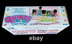 1995 Vintage TYCO Bed Time for 5 Quints Dolls 66116-3 NRFB New Hard to find Mint