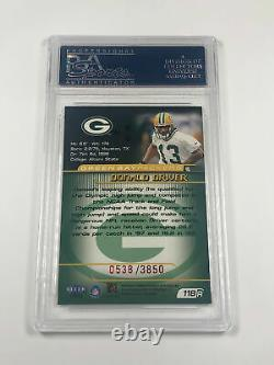 1999 Fleer Focus Donald Driver #118 PSA 9 Rookie RC Hard to Find MINT /3850