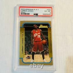 2003 LeBron James Bowman Gold R&S Card #123 PSA 6 EX-MT Nice Card! Hard to Find