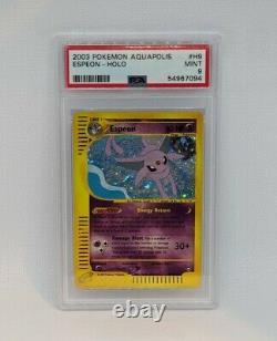 2003 Pokemon Aquapolis Espeon Holo #H9/H32 PSA 9 MINT! HARD TO FIND