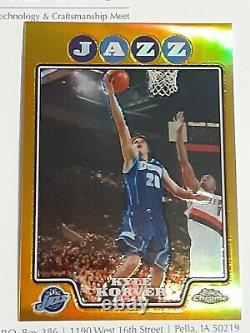 2008-09 Topps Chrome Kyle Korver GOLD REFRACTOR #'d /50 WOW Hard to find MINT