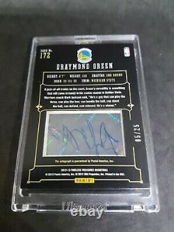 2012-13 Panini Draymond Green Rookie Card RC #ed 5/25 Auto Silver Hard to find