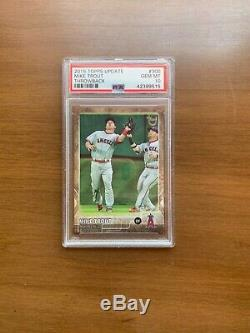 2015 Topps Update Mike Trout Throwback #300 Gem Mint PSA 10 VERY RARE HARD FIND