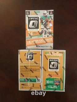 2020 2021 NFL Donruss Optic Football Blaster Box Lot Of 3! Rare! Hard To Find