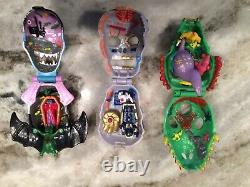 3 Horror Heads KO Mighty Max Playsets Micro Mini Hard To Find Toy Lot Cool
