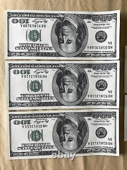 5 Consecutive Series 2006 HD 100 Dollar Bills Mint Conditionhard To Find