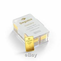 50 x 1g GOLD BARS in Box Degussa (Mint condition) RARE VERY HARD TO FIND