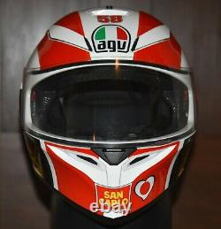AGV K3 SV Marco Simoncelli Motorcycle Helmet Large MINT! HARD TO FIND