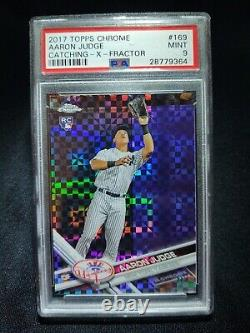 Aaron Judge Topps Chrome XFRACTOR RC #169 PSA 9 MINT RARE / HARD TO FIND