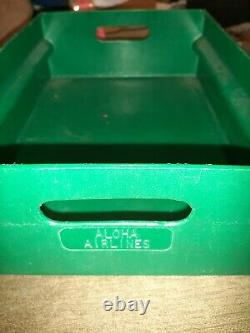 Aloha Airlines HARD 2 FIND Lot of (4) Hard plastic serving cart trays box boxes