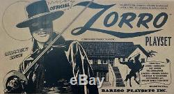 Barzso Zorro Playset complete in original box near-mint hard to find
