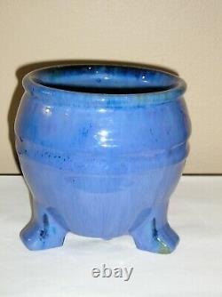 Beautiful Hard to Find Fulper Shape 60 3 Footed Jard Great Glaze Mint