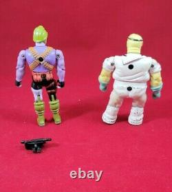 Bionic 6 Six Ljn Die-cast Lot Of 6 Figures With Hard To Find Accessories -rare