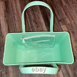 Bogg Bag Large Mint Chip Mint Green 2 Zip Pouches Nwt Hard To Find