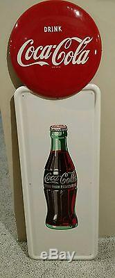 Coca Cola pilaster sign mint hard to find in this condition withbracket