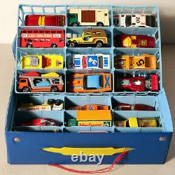 DTE 24 PC LESNEY MATCHBOX SUPERFAST With1980 CASE With MINT HARD TO FIND MODELS NICE