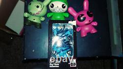 Dalek Space Monkey + Dunny + Signed Qee Keychain Rare Hard To Find Mint Lot