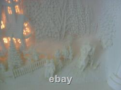 Dept 56 Silhouette The Church In The Pines Mint Worn Box Hard To Find Item