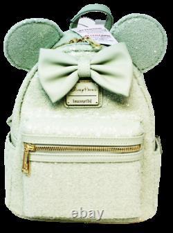 Disney Loungefly Backpack Mint Green Sequin Sequined SOLD OUT Hard to find NWT