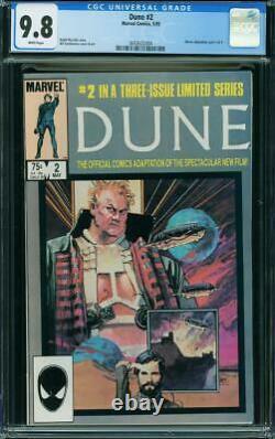Dune #2 CGC 9.8 Marvel 1985 Hard to find NM/Mint Copy! Movie! WP! L10 364 cm