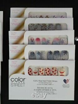 FREE Fast SHIP Lot Of 38 COLOR STREET Nail Strips NEW & Retired + Hard To Find