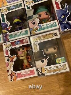 Funko Pop Disney Store Lot Many Hard To Find Indiana Jones 199. Mad Hatter 36