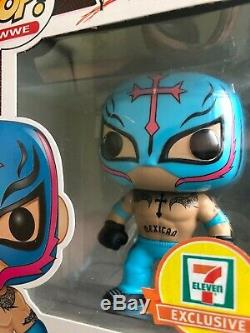 Funko pop wwe Rey Mysterio lot rare ultra hard to find Mint condition pop stack