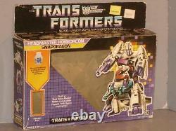 G1 Transformer Decepticon Headmaster Snapdragon Empty Box Lot # 2 Hard To Find