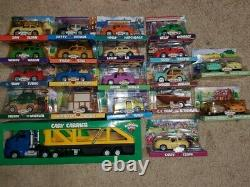 HUGE vintage Chevron Car lot Brand NEW in BOX Hard to find Almost Complete