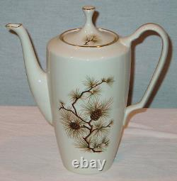 Hard To Find Discontinued Lenox Pine Pattern #w331 7 1/2 4 Cup Coffee Pot Mint