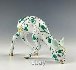 Herend White Dynasty Fawn Mint Condition & Hard To Find