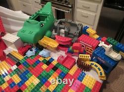 Huge 800 Piece Lot Lego Duplo With 5598 5597 Dinosaur Pieces Rare Hard To Find