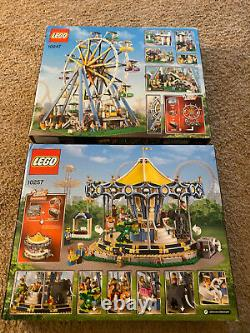 LEGO BRAND NEW 10247 Ferris Wheel + 10257 Carousel Lot 2 Hard to Find Sets