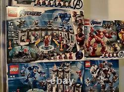 Lego Avengers Iron Man Lot Of 7 76164- 76125 76124 76166 NIB Hard to Find