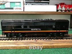 Lionel 6-38379 Santa Fe F3-b Unit 2333 C Black Bonett Unit Mint Hard To Find