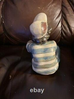Lladro 2209 Long Day (boy) Retired! Mint Condition! Gres! No Box! Hard to Find
