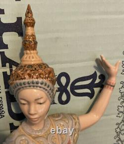 Lladro 5593 Siamese Dancer Lady Mint! Original Blue Box! Hard to Find! Rare