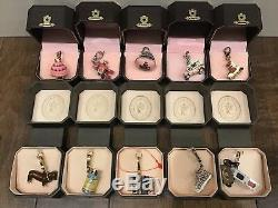 Lot Of 10 Juicy Couture Charms Hard To Find excellent Condition