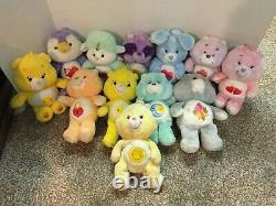 Lot Of 12 Care Bears Plush Stuffed Different Sizes SOME HARD TO FIND