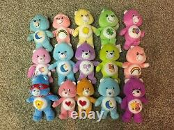 Lot Of 15 Care Bears Plush Stuffed Different Sizes SOME HARD TO FIND