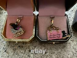 Lot Of 8 Juicy Couture Charms Hard To Find excellent Condition! (A)