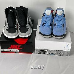 Lot of 4 Air Jordan Rare hard to find Shoes all size 10, University Blue UNC+++