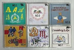 Lot of 6 Brother Embroidery Design Cards NO. 1,2,3,4,5 and 7 HARD TO FIND