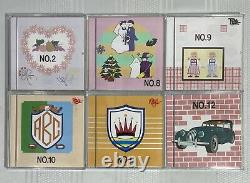 Lot of 6 Brother Embroidery Design Cards NO. 2,8,9,10,11 and 12 HARD TO FIND