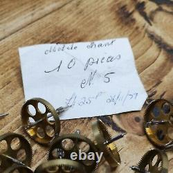 Lot of Hard to Find L'Epee Carriage Clock Parts, Wheels for Clockmakers (AY12)