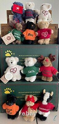 MINI MESSAGE BOYDS BEARS PLUSH LOT OF 12-New Condition with Tags, Hard to Find